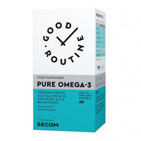 Pure Omega-3 Good Routine, 60 capsule, Secom imagine produs 2021