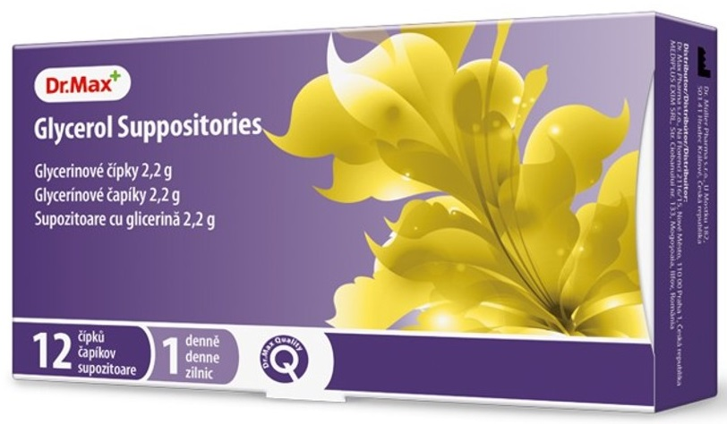 Dr.Max Supozitoare cu glicerina pentru adulti 2,2 g, 12 bucati imagine produs 2021