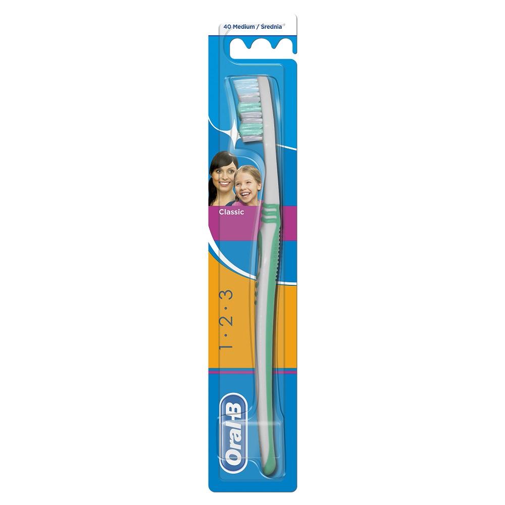 Periuta de dinti manuala Classic 40 medium, 1 bucata, Oral-B