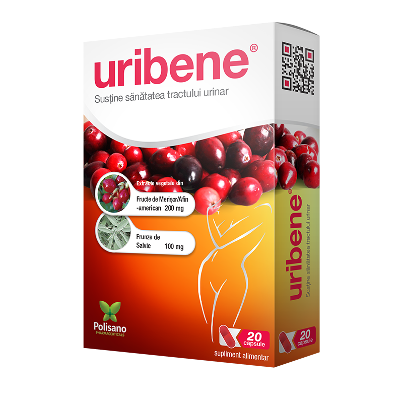 Uribene, 20 capsule, Polisano drmax poza