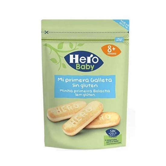 Primii mei biscuiti fara gluten, +8 luni, 180g, Hero Baby drmax.ro