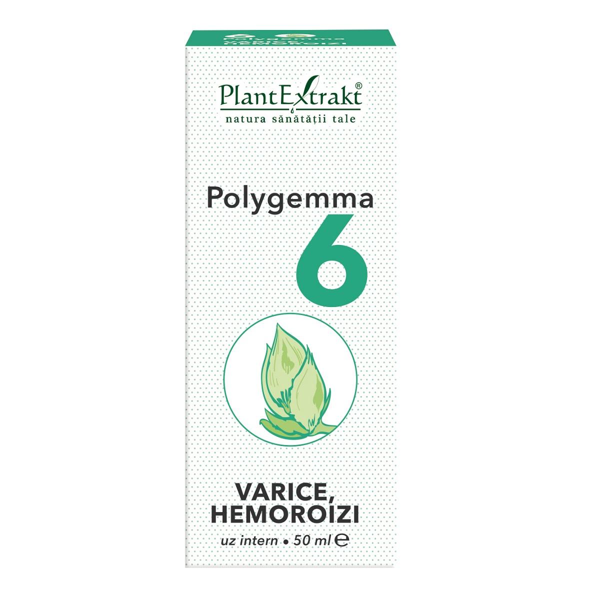 Polygemma 6 Varice si hemoroizi, 50ml, Plant Extrakt imagine produs 2021