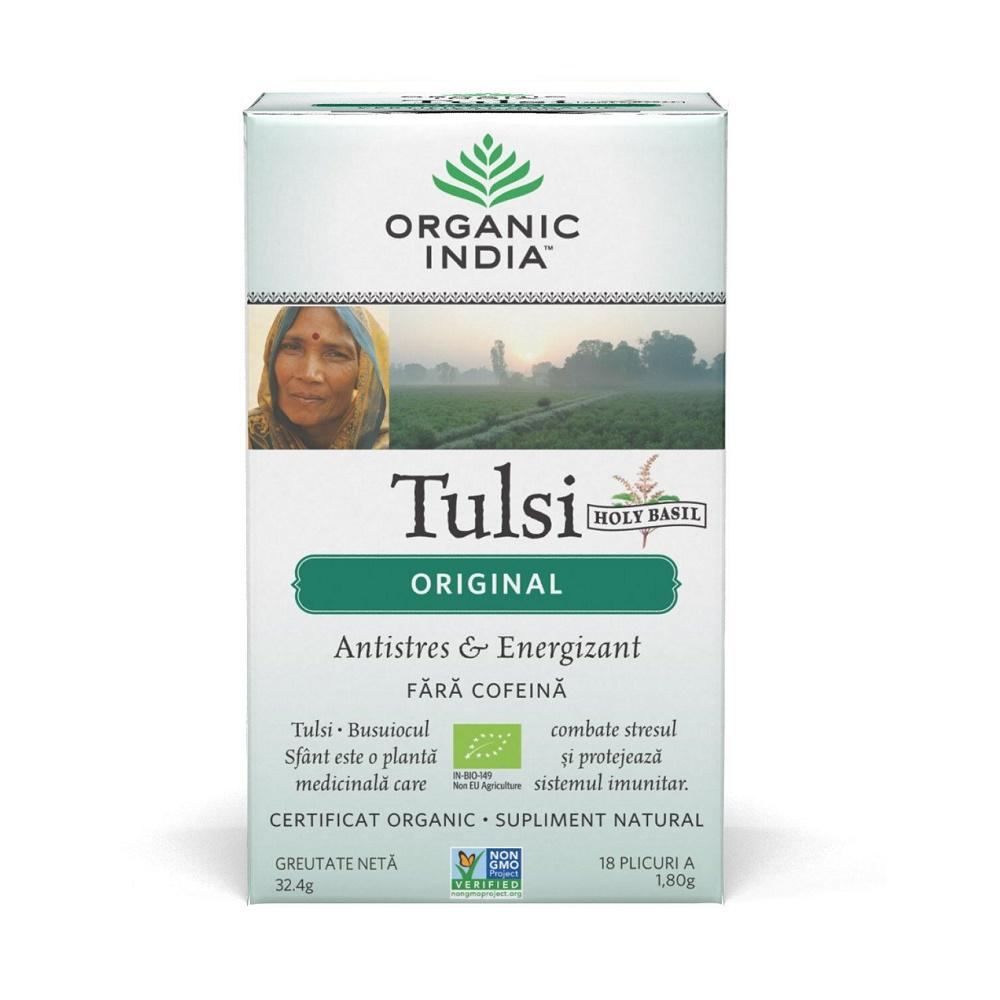 Tulsi Original Ceai, 18 plicuri, Organic India drmax.ro