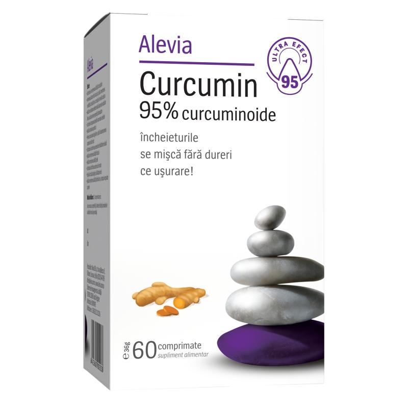 Curcumin 95% curcuminoide, 60 comprimate, Alevia drmax.ro