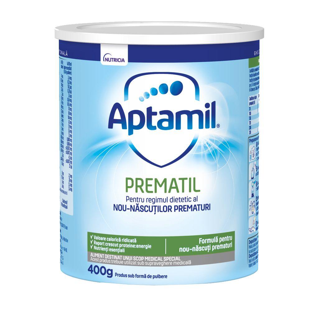 Lapte praf Aptamil Prematil, de la nastere, 400g, Nutricia drmax poza