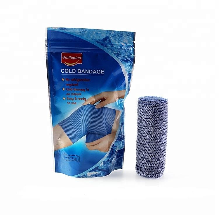 Bandaj elastic cu efect racoritor, 10 cm x 3.2 m, Smileplus imagine produs 2021