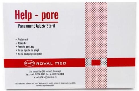 Pansamente adezive sterile, 10x10cm, Roval Med