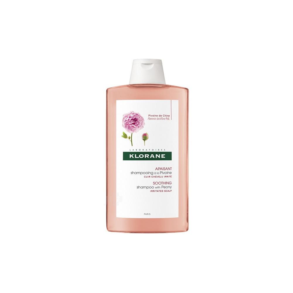 Sampon cu extract de bujor pentru scalp sensibil și iritat, 400 ml, Klorane drmax.ro