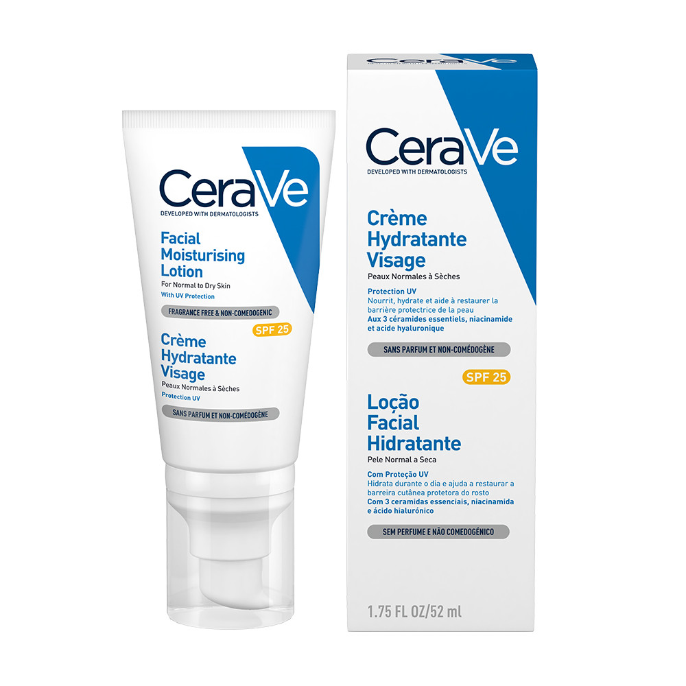 Crema hidratanta de fata ten normal-uscat SPF25, 52ml, CeraVe