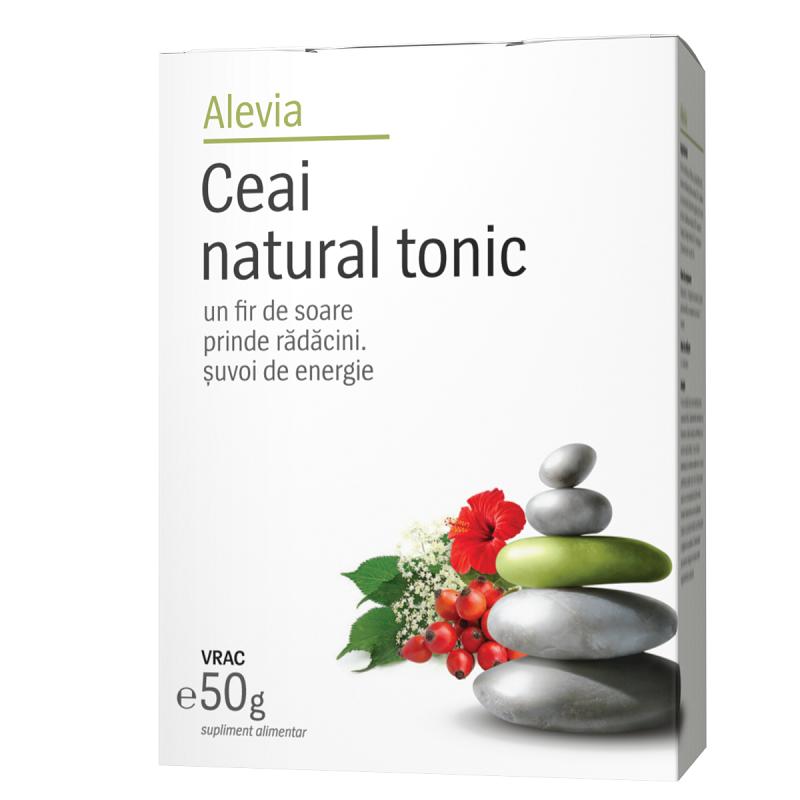 Ceai natural tonic, 50g, Alevia drmax.ro