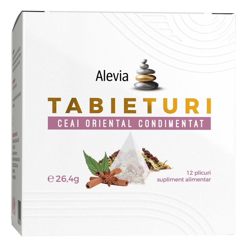 Ceai oriental condimentat Tabieturi, 12 plicuri, Alevia drmax.ro