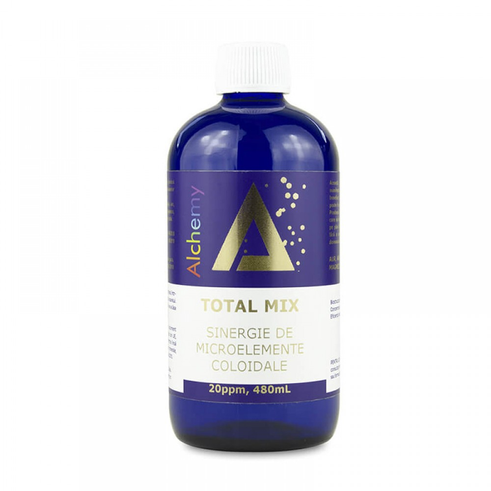 Total Mix sinergie de microelemente coloidale 20 ppm, 480ml, Aghoras drmax.ro