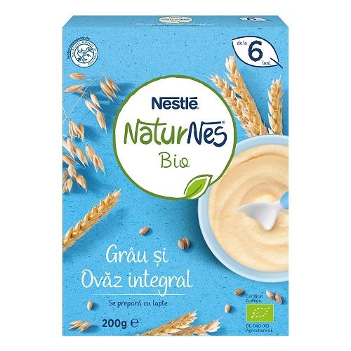 Nestle Cereale bio grau si ovaz integral, Nestle Naturnes, 200 g