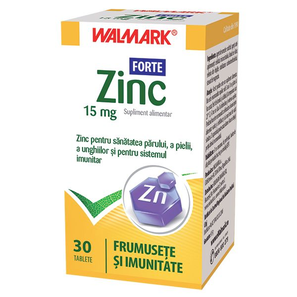 Zinc Forte 15mg, 30 tablete, Walmark la preț mic imagine