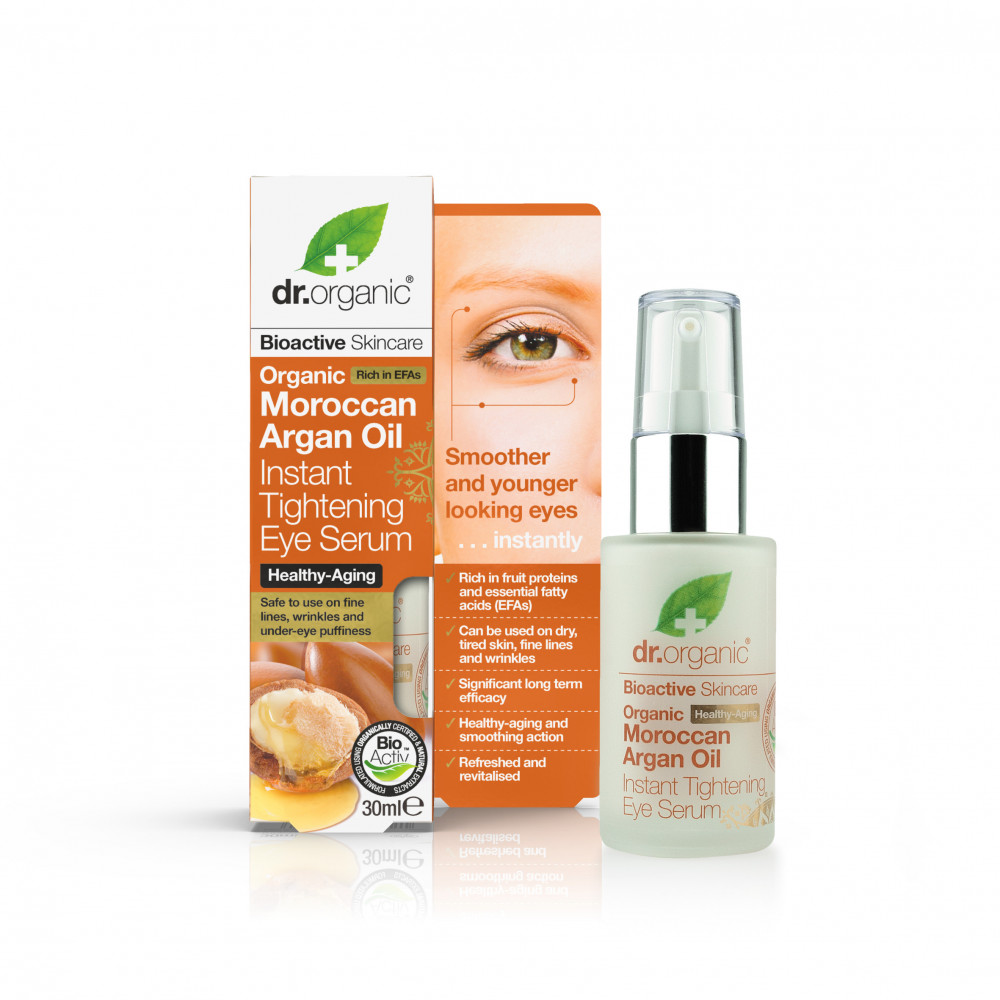 Dr Organic Argan, Ser pentru ochi cu efect instant, 30ml