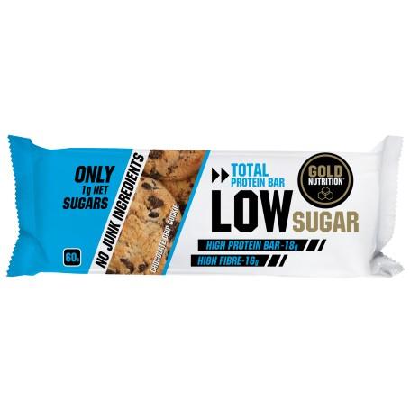 Baton proteic biscuiti si fulgi de ciocolata Low Sugar, 60g, Gold Nutrition