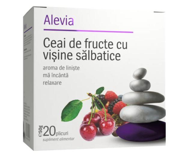 Ceai de fructe cu visine salbatice, 20 plicuri, Alevia imagine produs 2021