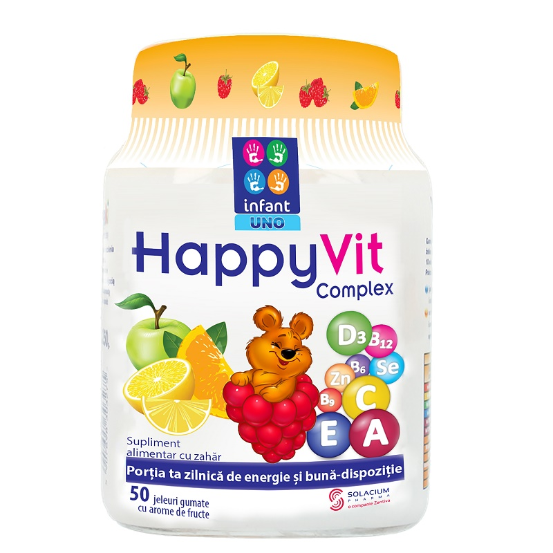 HappyVit Complex, 50 jeleuri, Solacium drmax poza