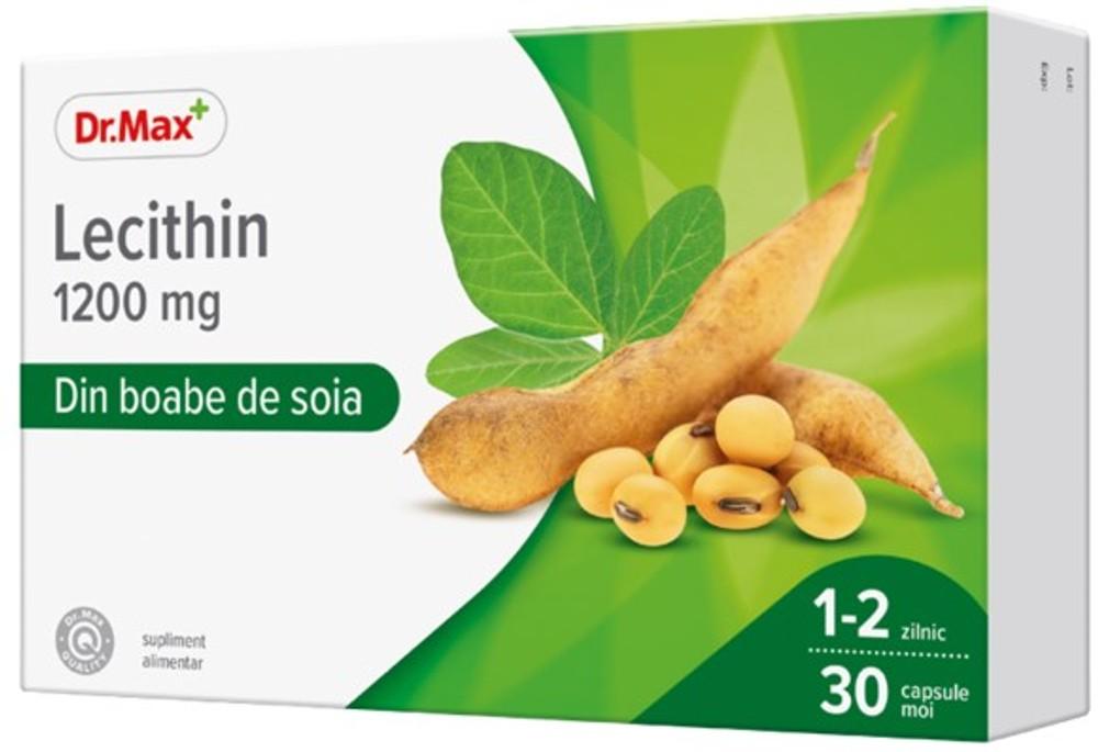 Dr.Max Lecitina 1200 mg, 30 capsule moi imagine produs 2021