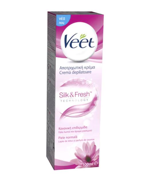 Crema depilatoare piele normala lotus si iasomie, 100ml, Veet