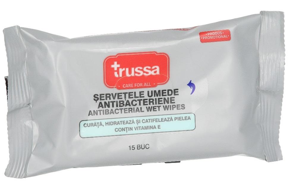 Trussa Servetele Umede Antibacteriene 15buc drmax poza