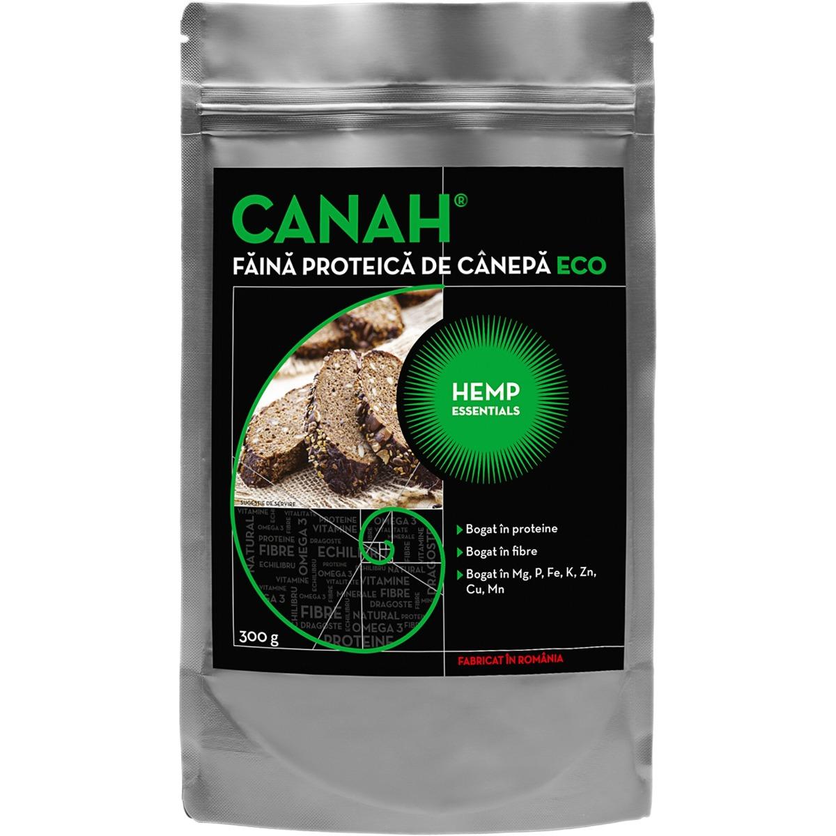 Faina proteica de canepa ECO, 300g, Canah drmax.ro