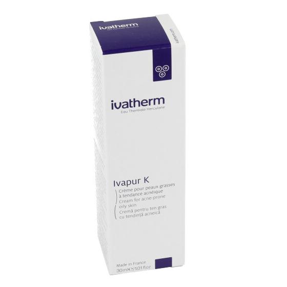 Crema pentru ten gras cu tendinta acneica Ivapur K, 30 l, Ivatherm