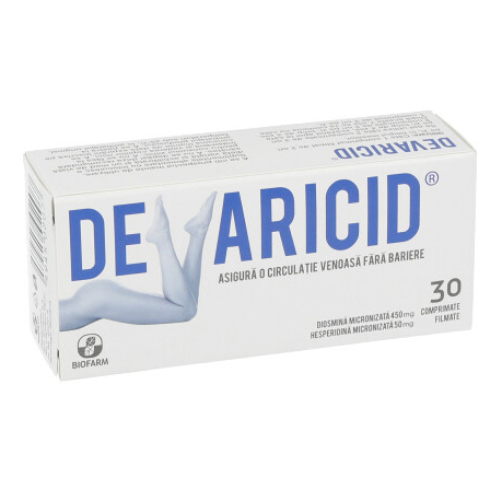 Devaricid, 30 comprimate, Biofarm drmax.ro