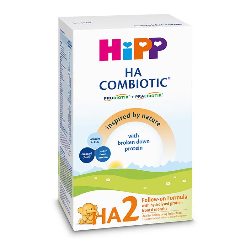 Lapte praf HA 2 Combiotic, lapte de continuare, incepand de la 6 luni, 350 g, HiPP