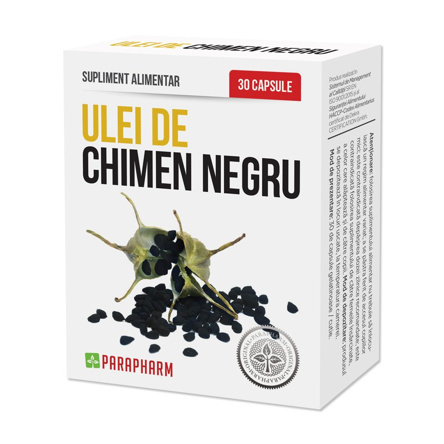Ulei de Chimen Negru, 30 capsule, Parapharm imagine produs 2021