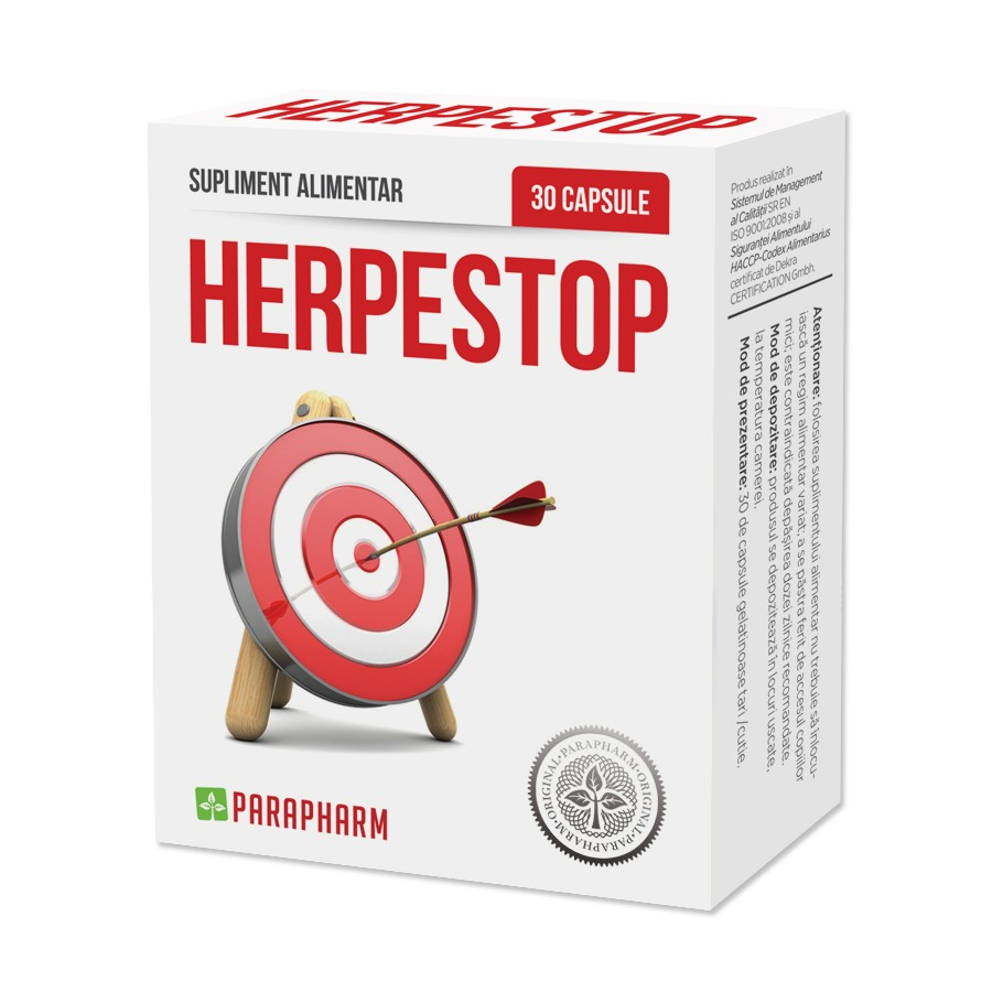 Herpes Stop, 30 capsule, Parapharm la preț mic imagine