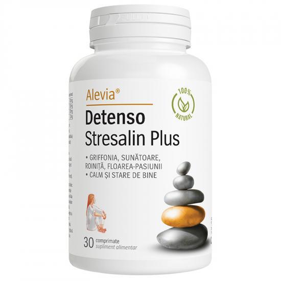 Detenso Stresalin Plus, 30 comprimate, Alevia drmax.ro