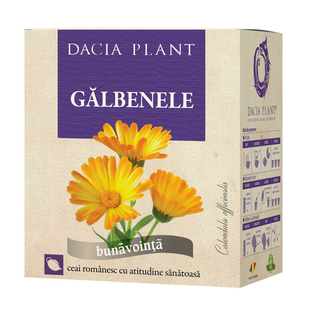 Ceai de galbenele, 50g, Dacia Plant drmax.ro
