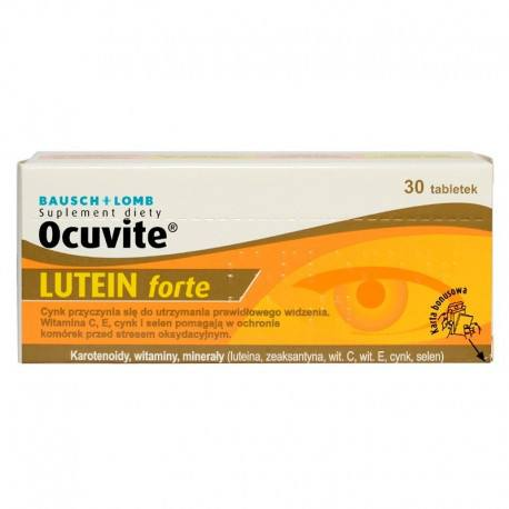 Ocuvite Lutein Forte, 30 capsule, Bausch Lomb drmax poza