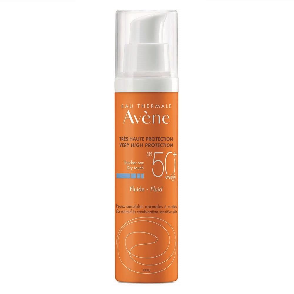 Fluid pentru protectie solara SPF 50+ piele normala si mixta, 50ml, Avene drmax.ro