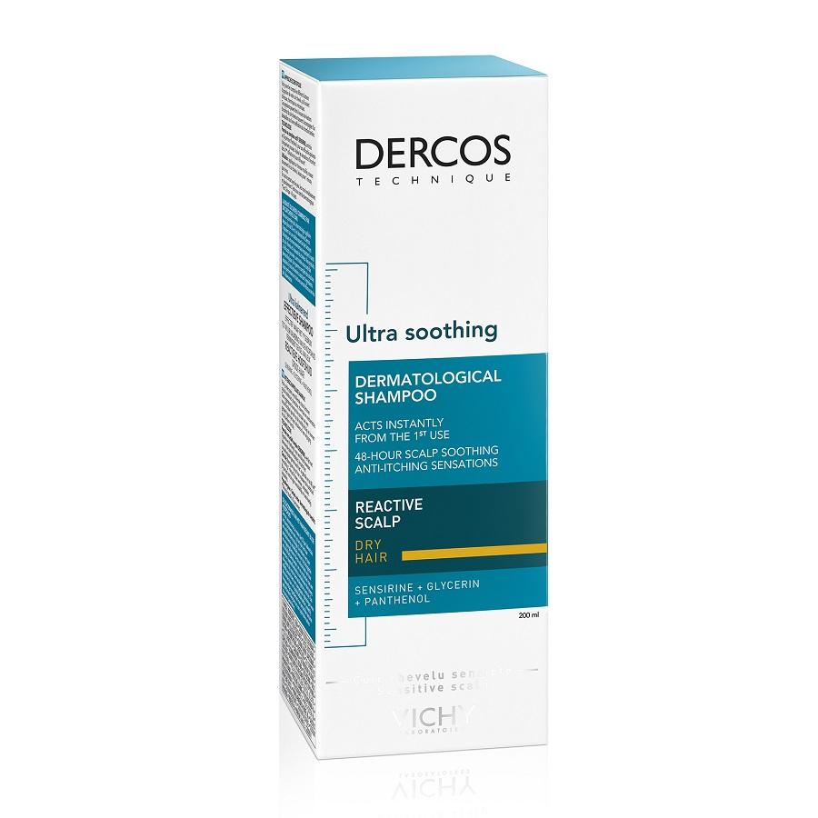 Sampon ultra calmant pentru scalp sensibil Dercos, 200ml, Vichy drmax.ro