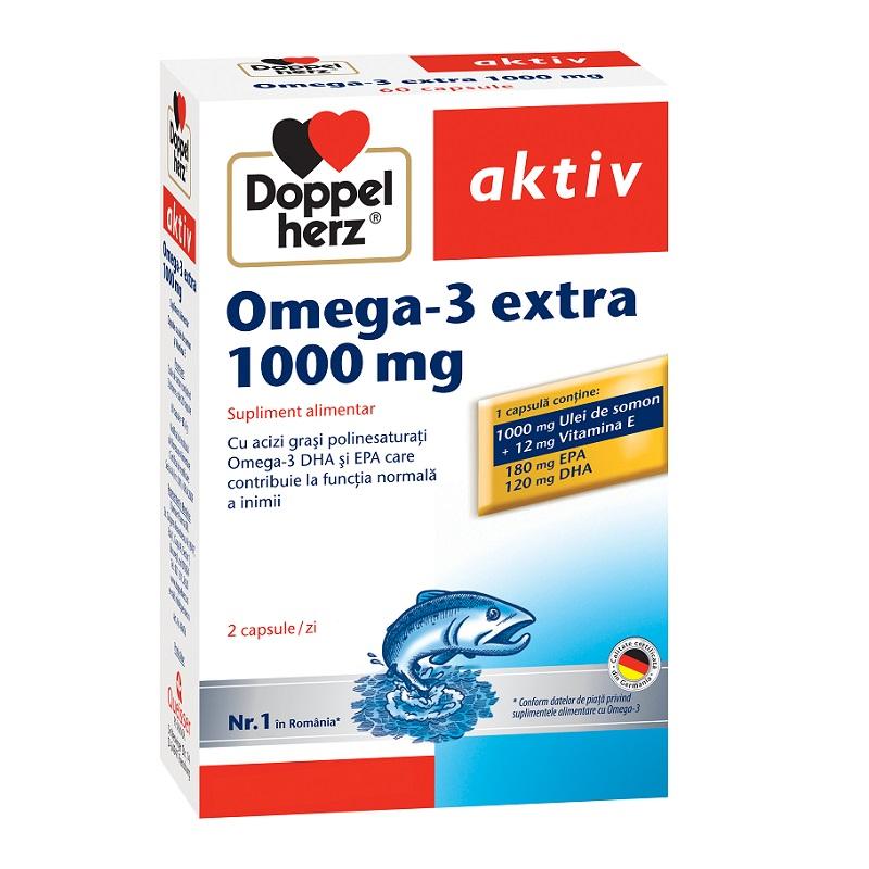 Omega 3 extra 1000 mg, 60 capsule, Doppelherz imagine produs 2021