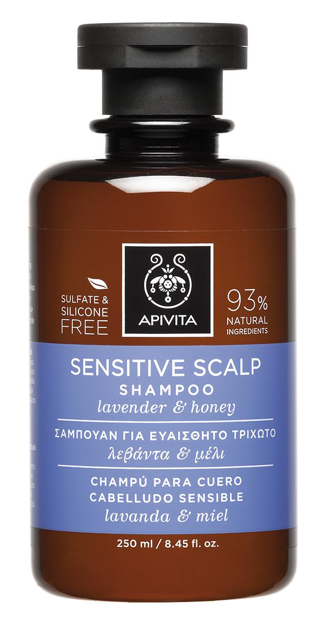 Sampon pentru scalp sensibil, 250ml, Apivita imagine produs 2021