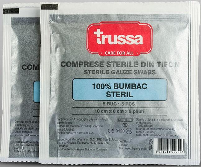 Comprese sterile pliate, 10 x 8 cm, 5 buc, Trussa imagine produs 2021