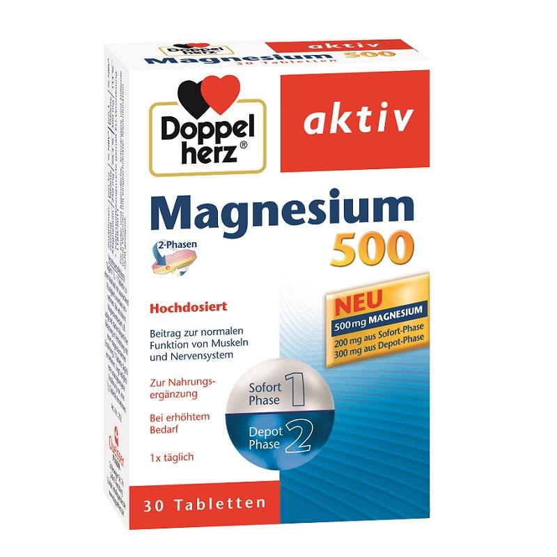Magneziu 500mg, 30 comprimate, Doppelherz drmax poza