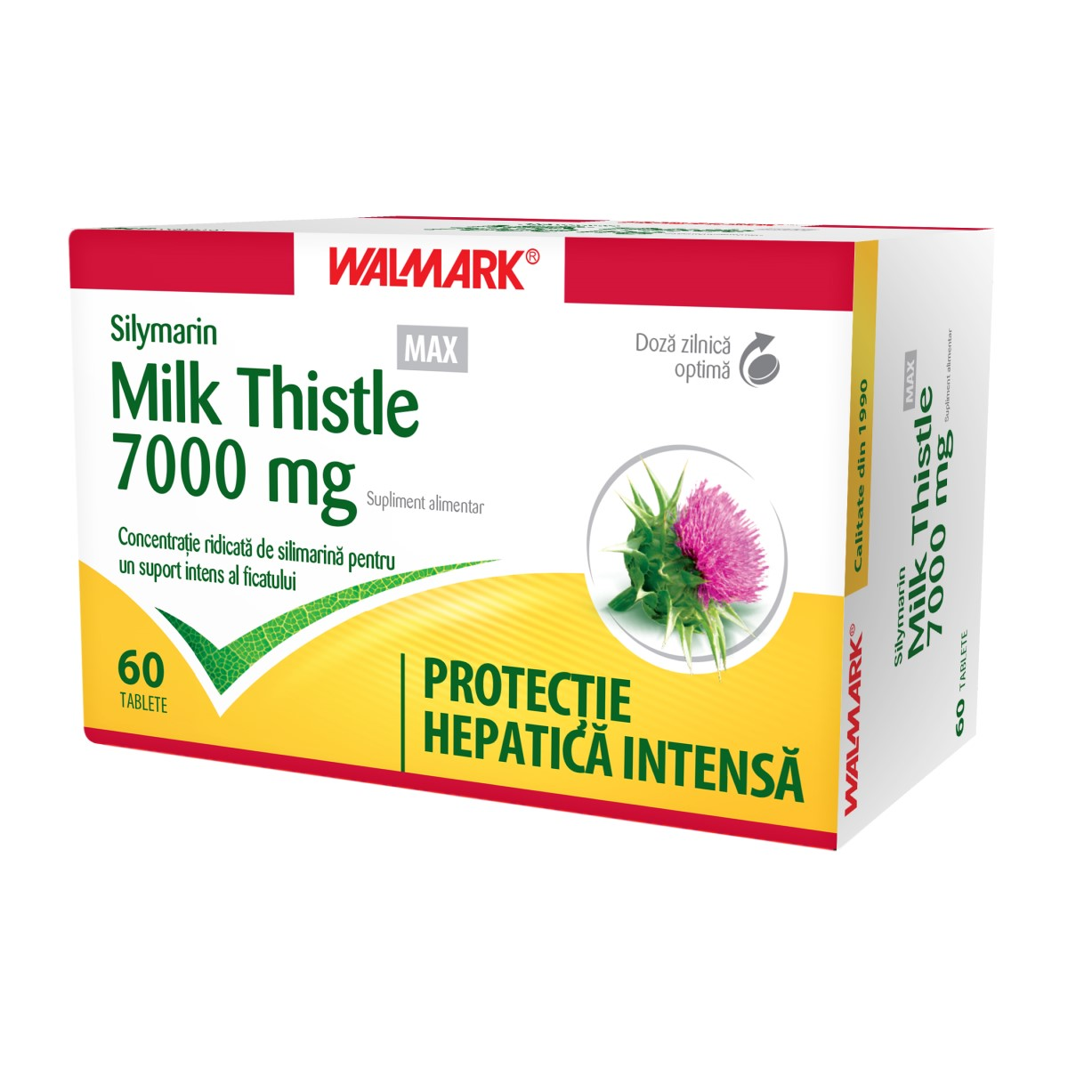 Silymarin Milk Thistle MAX, 60 comprimate filmate, Walmark imagine produs 2021