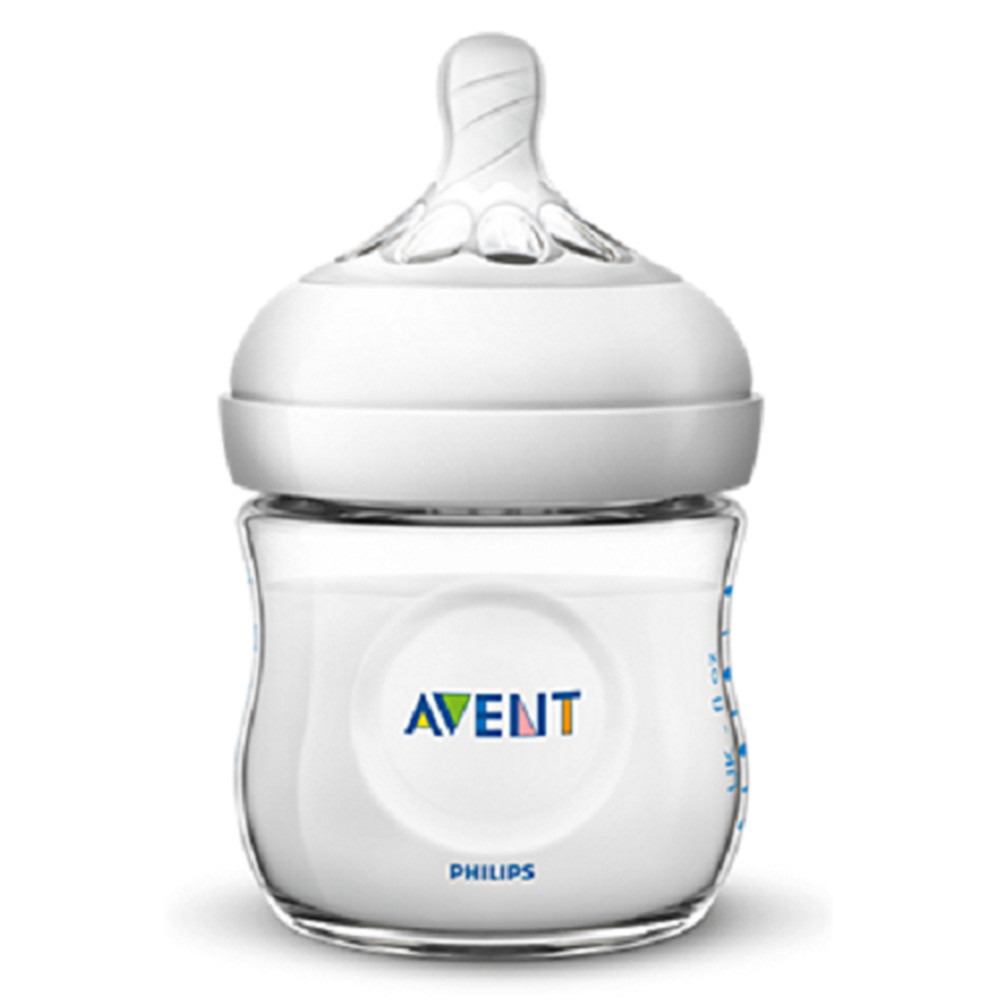 Biberon Natural, +0 luni, 125 ml, SCF030/17, Philips Avent