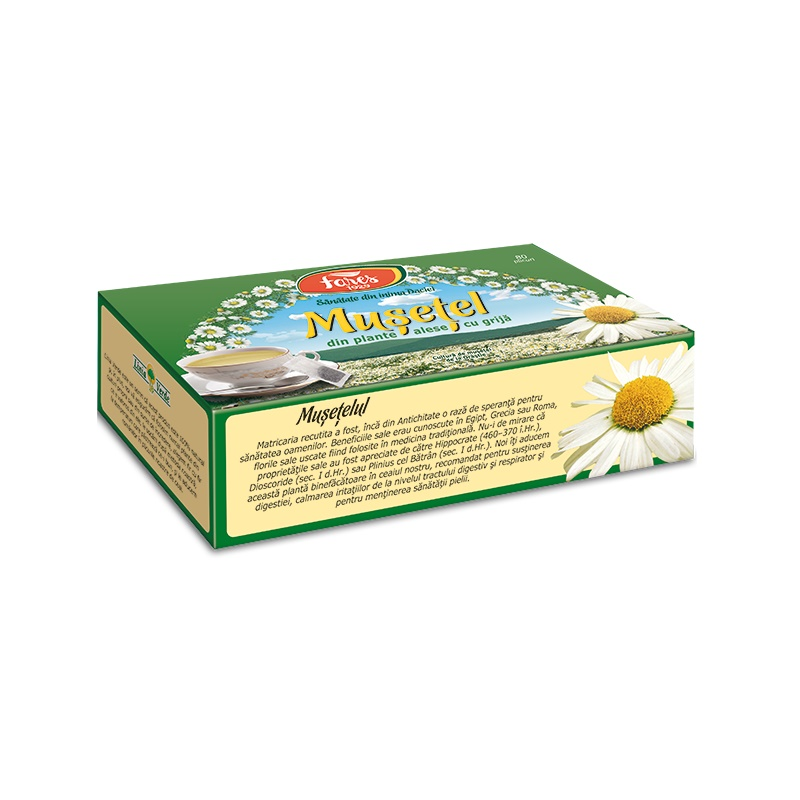 Ceai de musetel, 80 plicuri, Fares drmax.ro