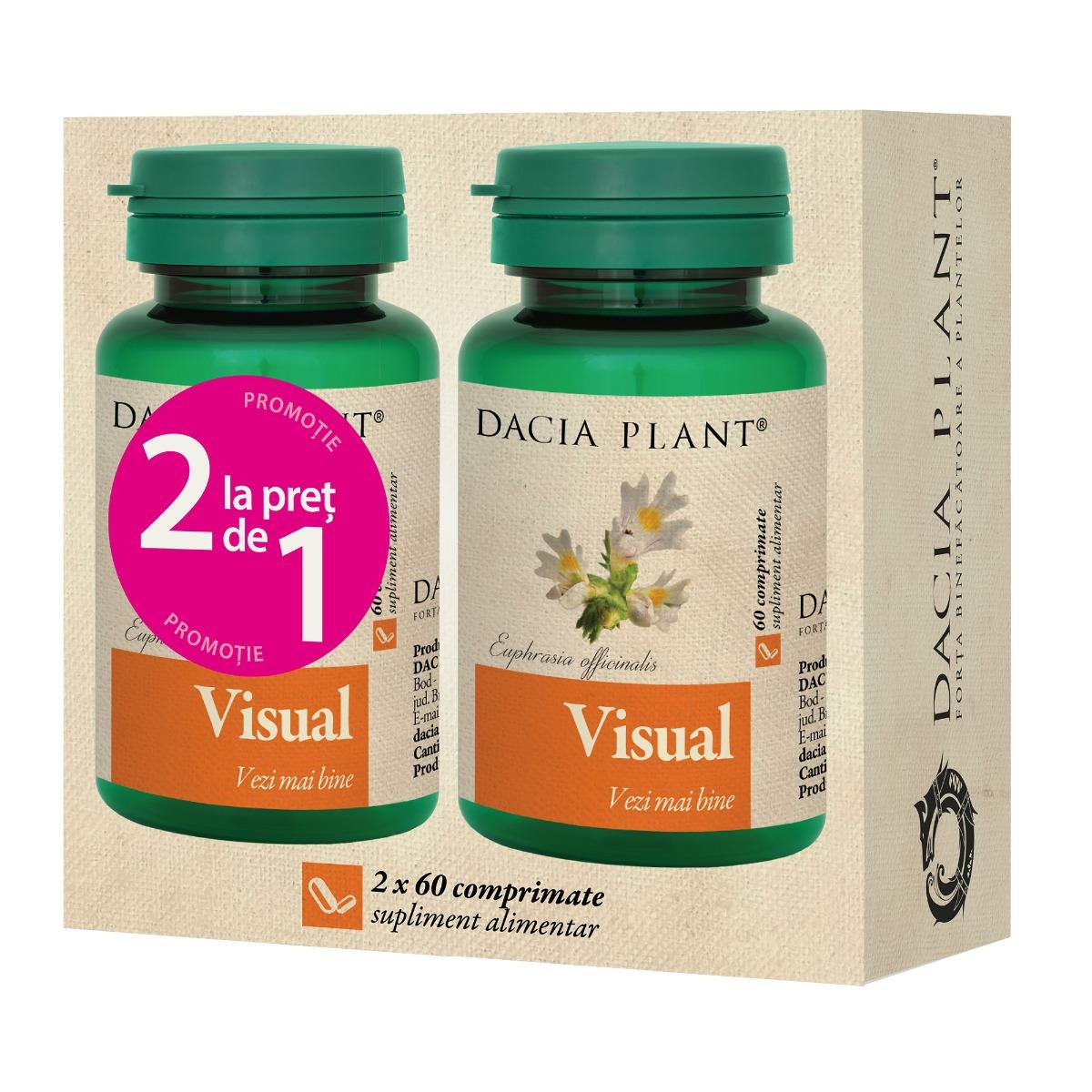 Visual Pachet 1+1 gratis, 60 comprimate, Dacia Plant drmax.ro