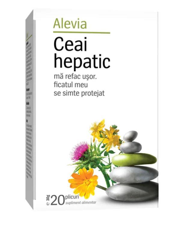 Ceai hepatic, 20 plicuri, Alevia imagine produs 2021