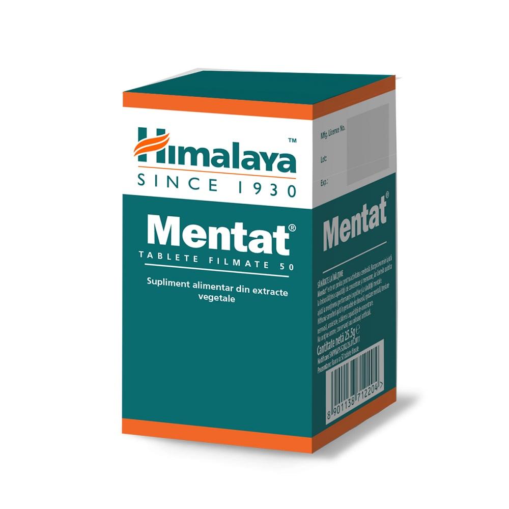 Mentat, 50 tablete, Himalaya imagine produs 2021