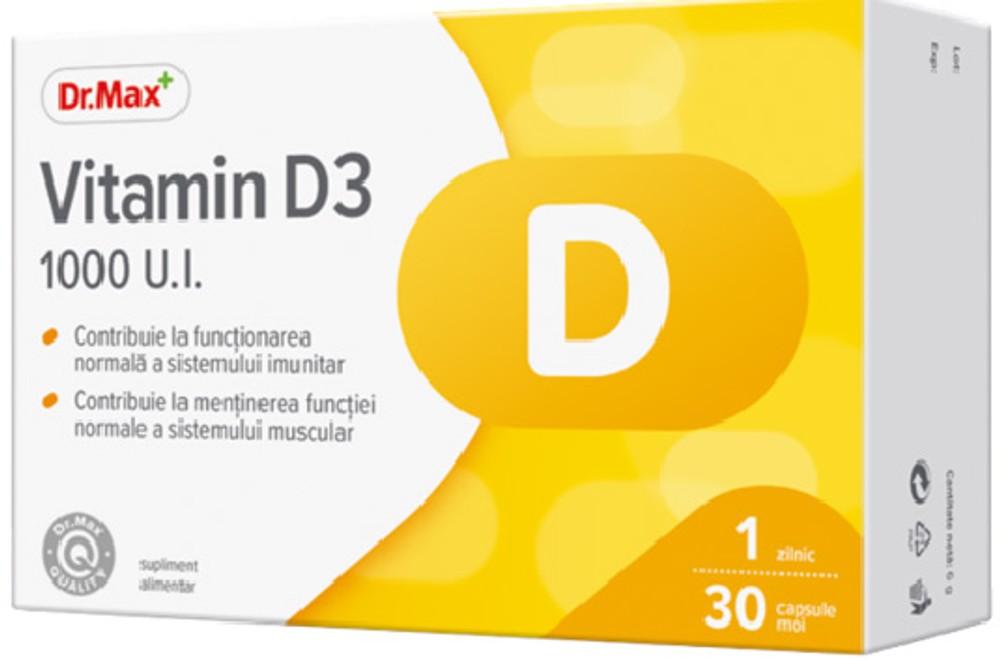 Dr.Max Vitamina D3 1000 UI, 30 capsule moi drmax poza