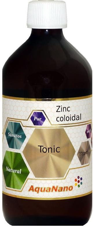 Zinc coloidal AquaNano Tonic 10ppm, 480 ml, Aghoras la preț mic imagine