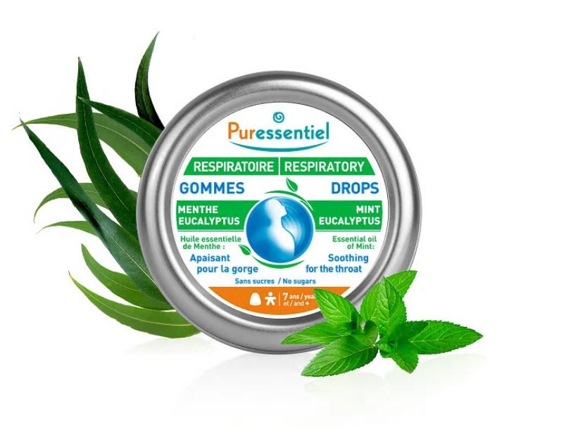 Dropsuri gumate Respiratory Bio pentru calmarea durerilor din gat, 45g, Puressentiel imagine produs 2021