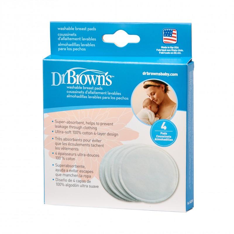 Dischete pentru san refolosibile, 4 bucati, Dr. Brown's drmax.ro